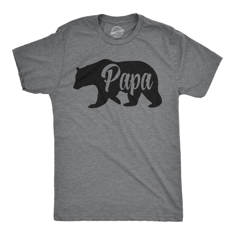 Papa Bear Funny For Dads Gift Idea Novelty Tees Family T Shirt