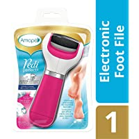 Amopé Pedi Perfect Foot File with Diamond Crystals - Electronic Pedicure Tool - Extra Coarse, Pink