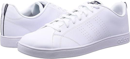 adidas Advantage Clean VS - Zapatillas para Hombre, Color Blanco/Azul Marino, Talla 50: Amazon.es: Zapatos y complementos