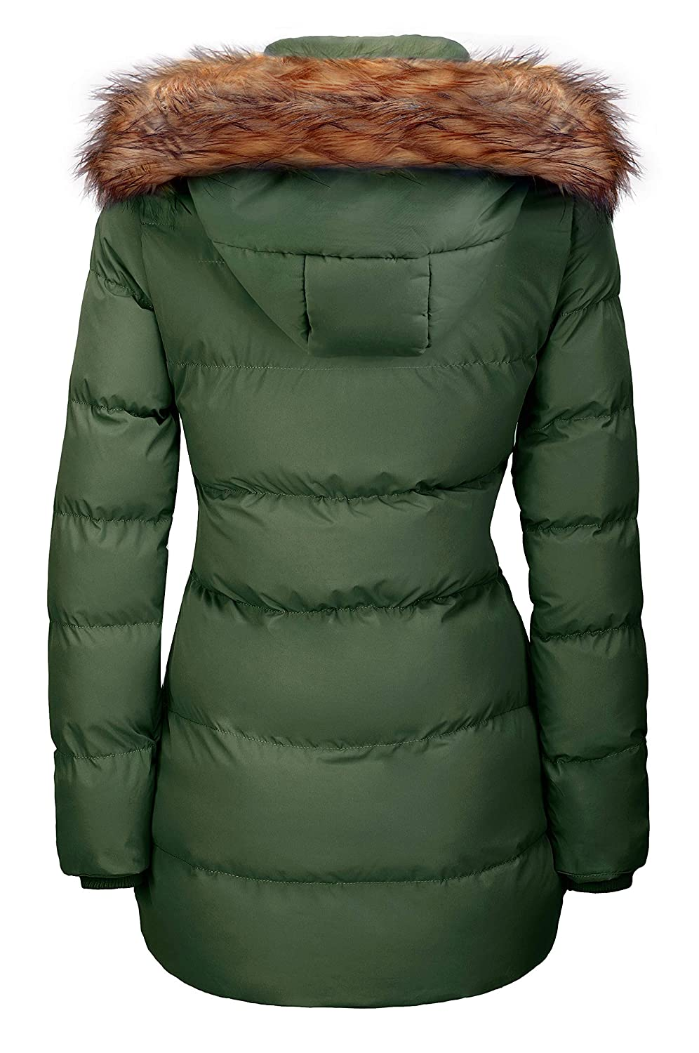 c6c072e12b Amazon.com: WenVen Women's Winter Thicken Puffer Coat with Fur Trim  Removable Hood: Clothing