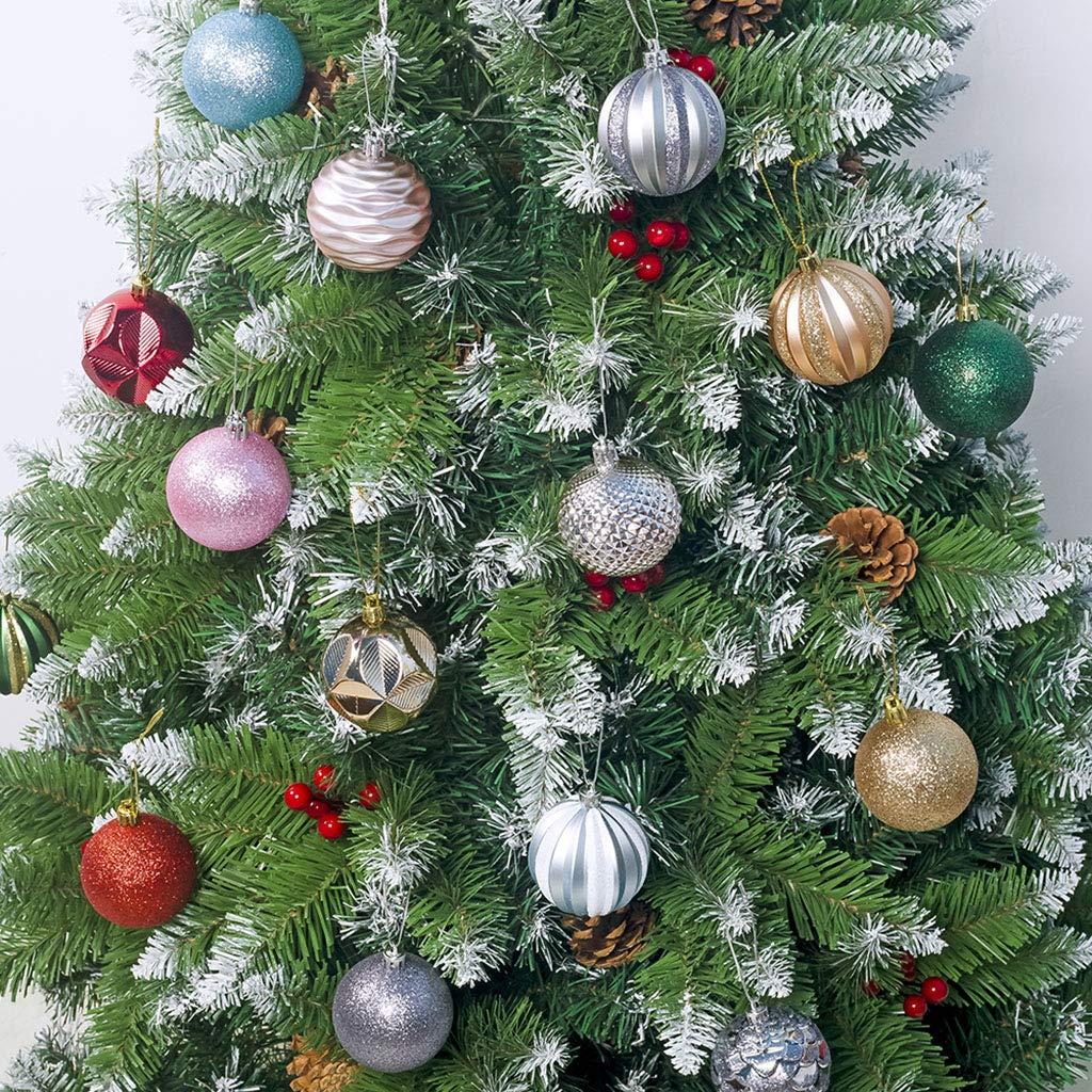 Dekoration Weihnachtsbaumkugeln Geschenk Geburtstag Weihnachten Durchmesser 6 cm 12 Weihnachtskugeln Manyo bunt Dekokugel