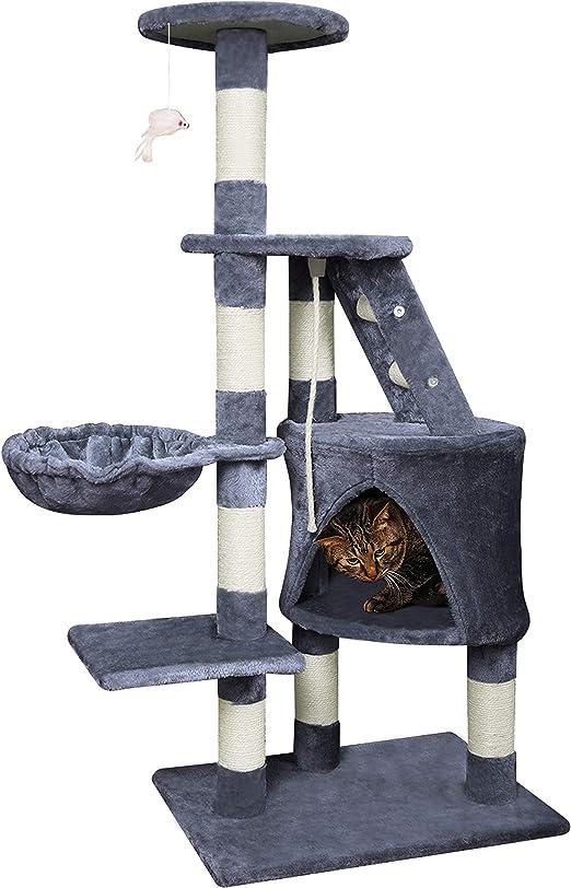 Wellhome Arbol para Gatos Escalador para Gatos Sisal Cubierto ...