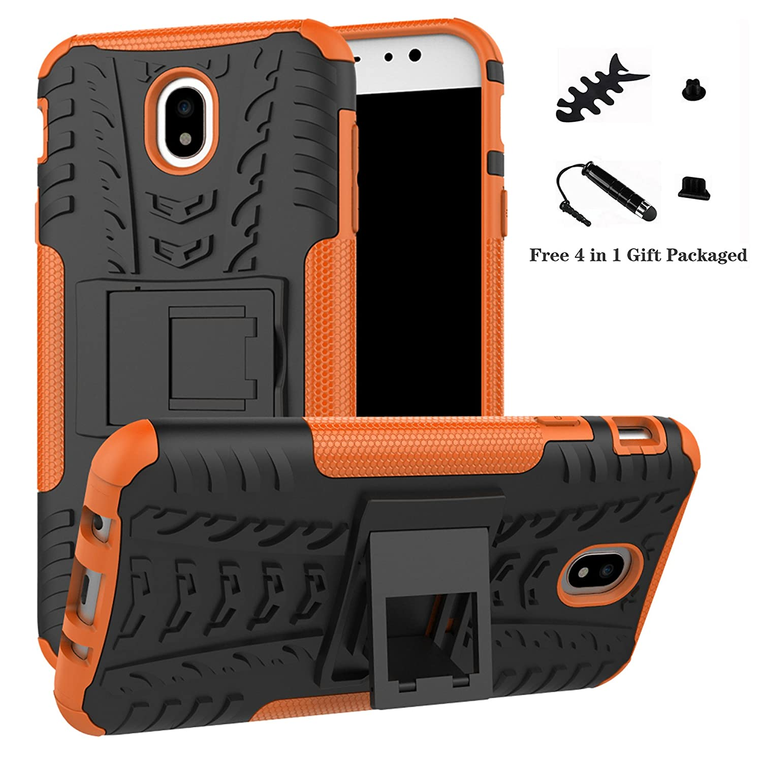 Galaxy J7 Pro 2017 case,LiuShan Shockproof Heavy Duty Combo Hybrid Rugged Dual Layer Grip Cover with Kickstand For Samsung Galaxy J7 Pro J730G 2017 ...