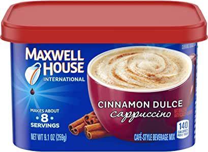 Maxwell House International Cafe Cinnamon Dulce Instant Coffee (9 oz Canisters, Pack of 4)