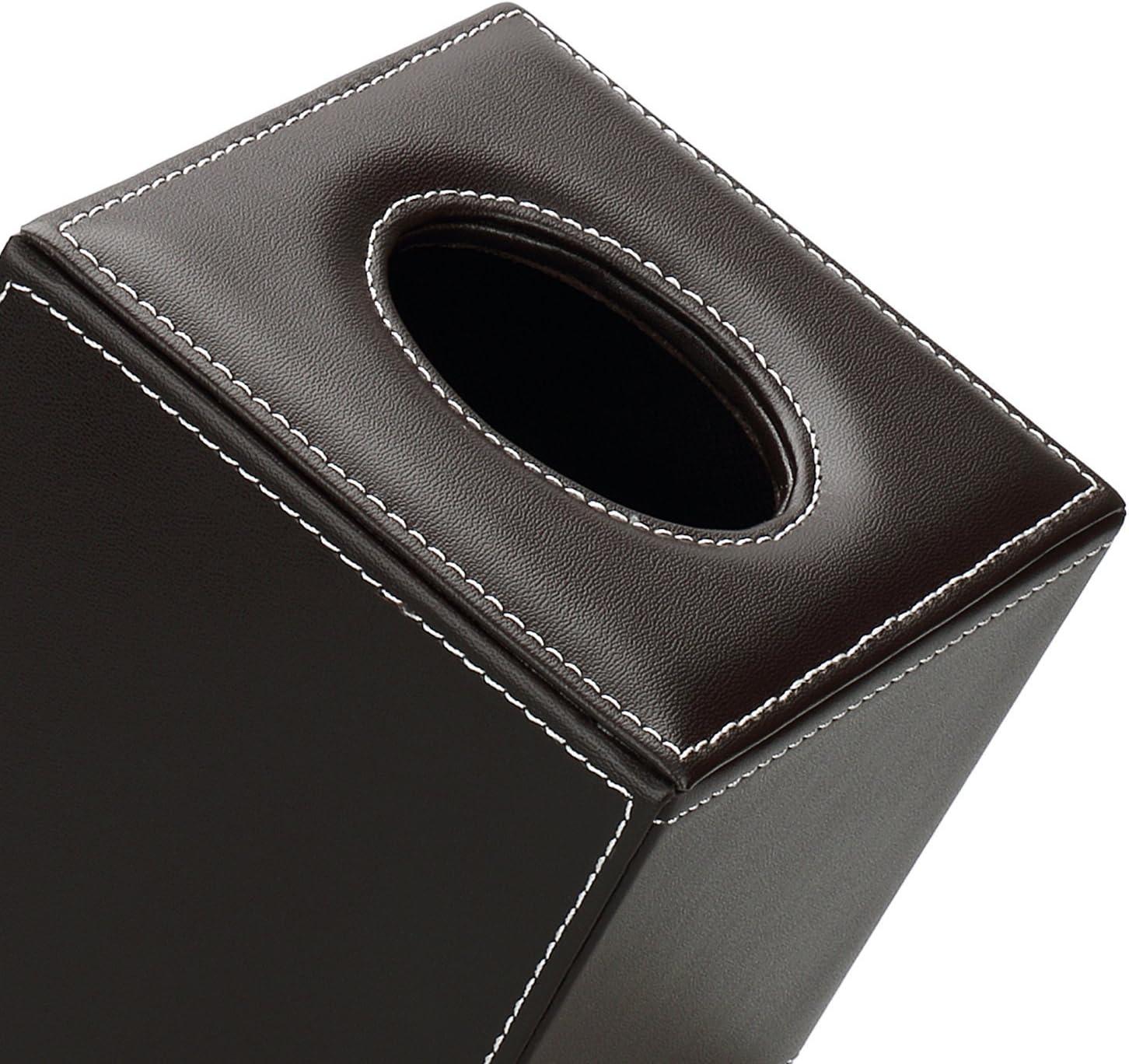 Marble KINGFOM Leder Quadratisch Kosmetikt/ücherbox