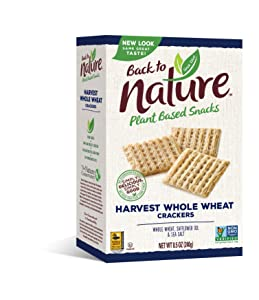 Back To Nature Non-GMO Crackers, Harvest Whole Wheat, 8.5 Ounce