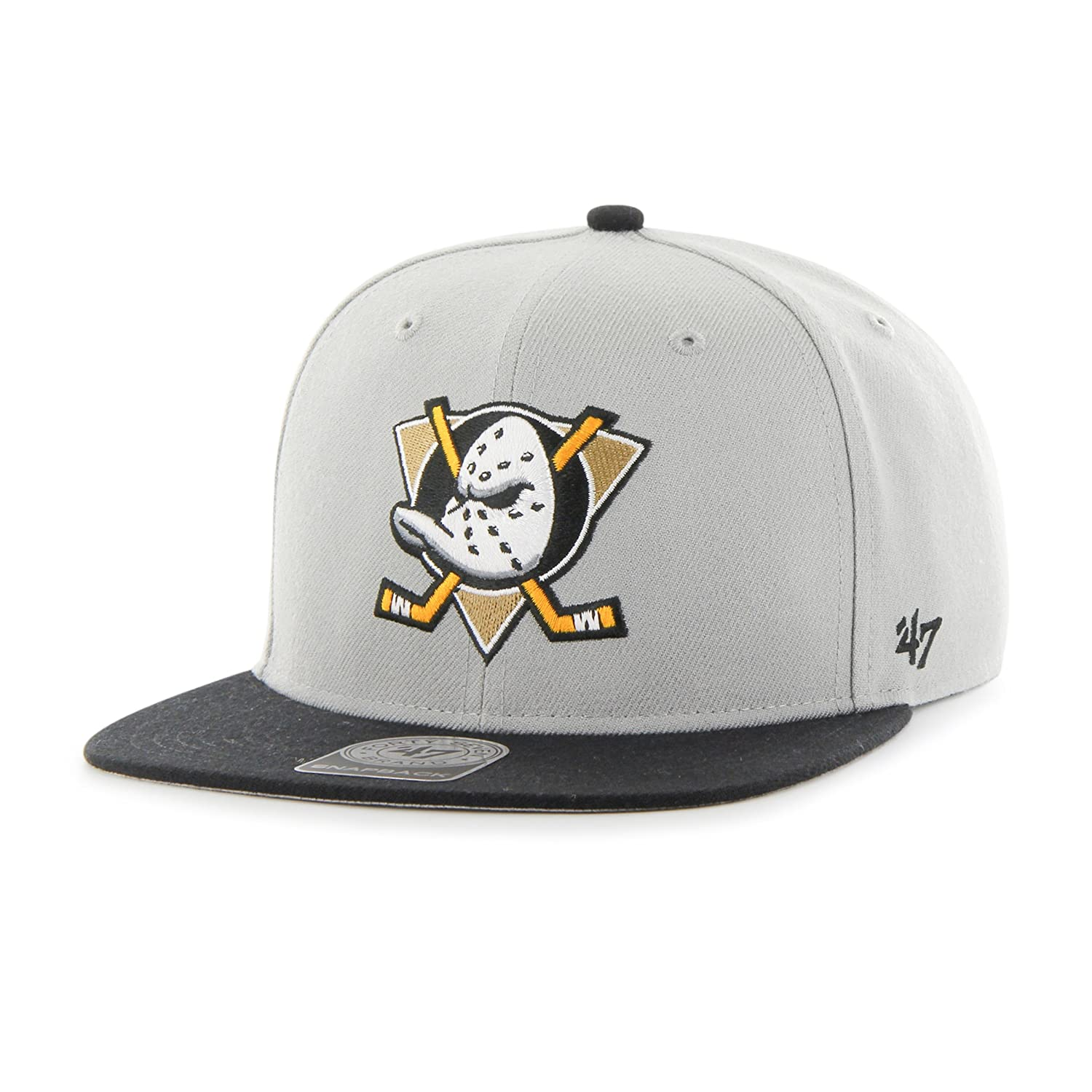 b408dd03485714 Amazon.com: '47 Brand Cap – NHL Anaheim Ducks Captain Snapback Gray size:  OSFA (One size fits any): Sports & Outdoors