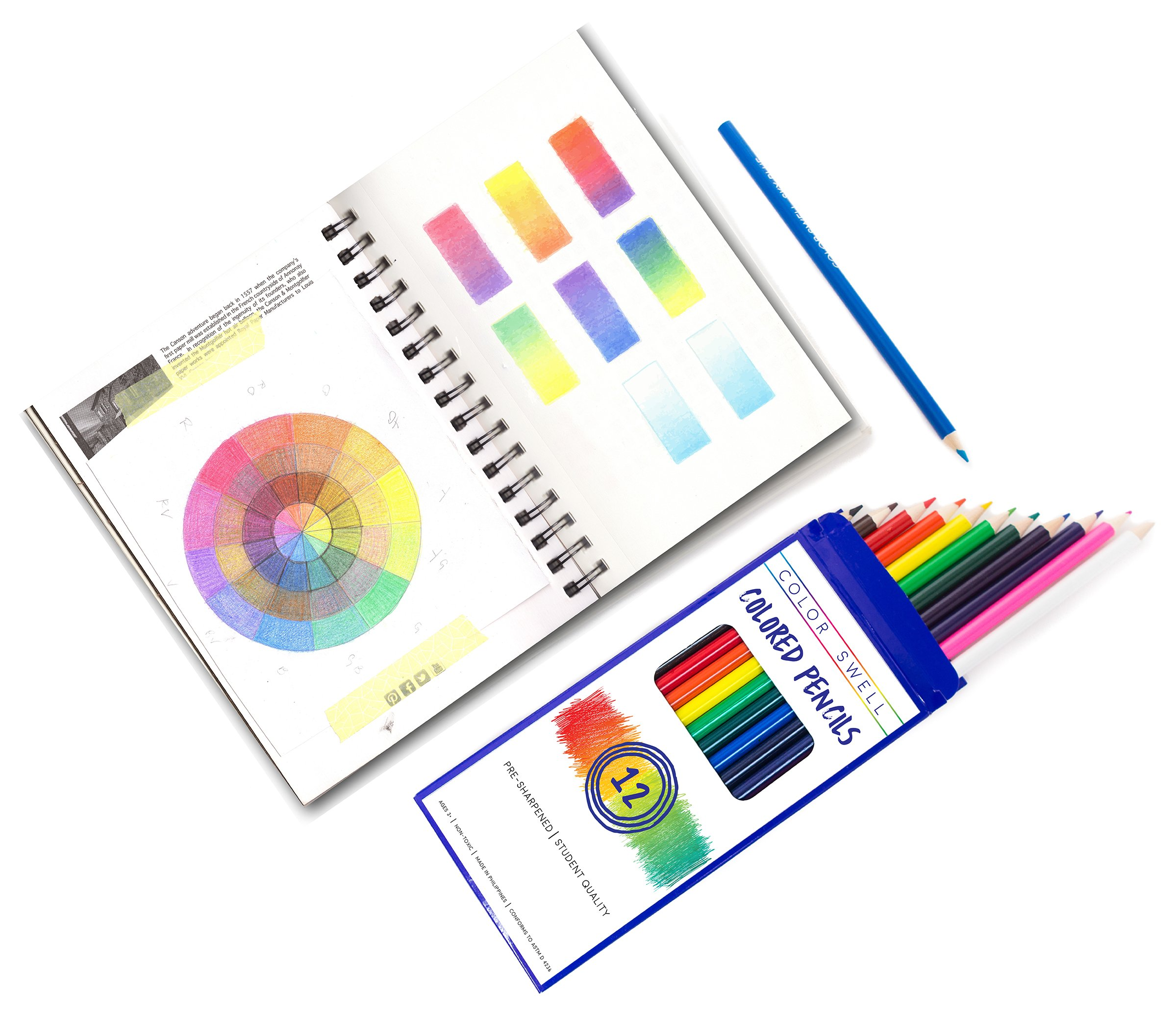Color Swell Colored Pencils Bulk Pack 30 Sets 12 Count Assorted Vibrant Colors 360 Total Perfect for Kids, Teachers and Classrooms by Color Swell (Image #8)