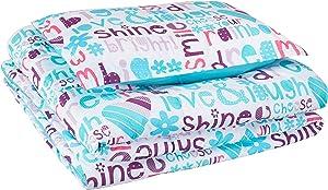 AmazonBasics Kid's Comforter Set - Soft, Easy-Wash Microfiber - Twin, Multi-Color Dream Big