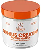 Genius Creatine Powder – Pro Post Workout Recovery Drink for Lean Muscle Gain | Creapure Monohydrate, HCL & Beta Alanine…