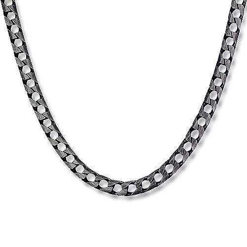 exklusives Sortiment akribische Färbeprozesse zum halben Preis STERLL Herren Hals-Silberkette Silber 925 Oxidiert Schmuck-Beutel  Weihnachtsgeschenke für Männer