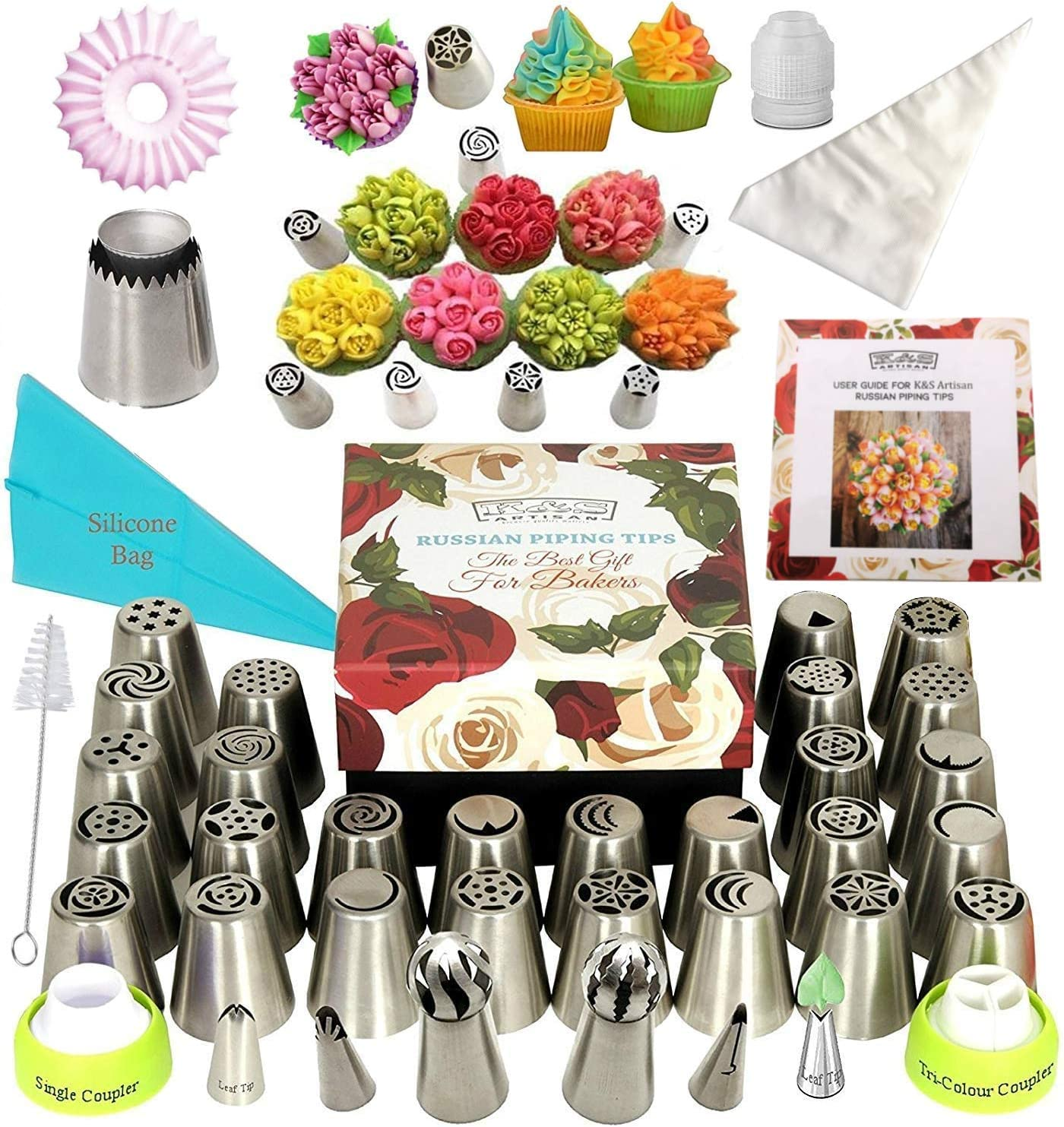 Artisan Russian piping tips deluxe cake decorating supplies.