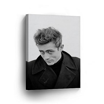 Amazon.com: SmileArtDesign James Dean Wearing Black White Wall Art ...