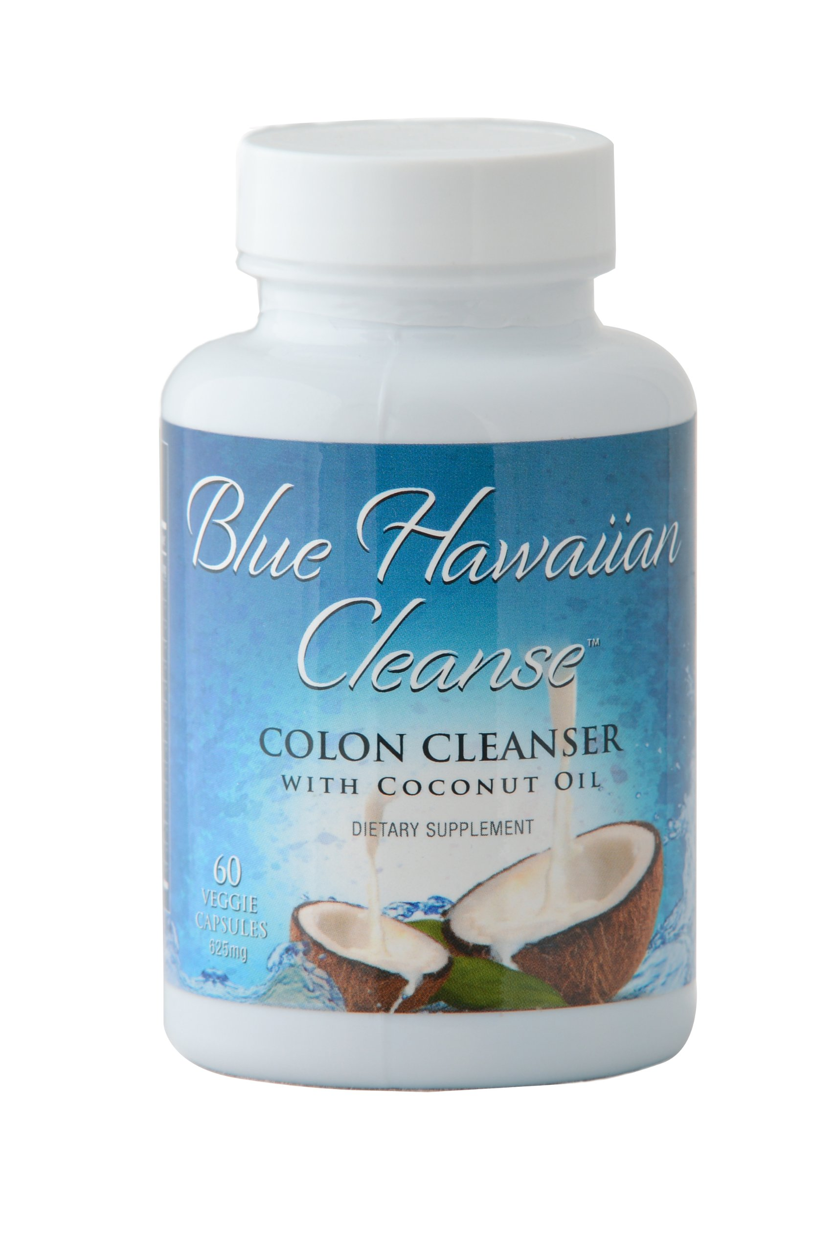 Blue Hawaiian Cleanse - Colon Cleanser with Coconut Oil - 60 vcaps | Professional Strength Formula Enhanced with Senna, Flax, Psyllium, Ginger and Black Walnut | Removes Intestinal Plaque with Mild Laxative Effect by Blue Hawaiian Cleanse (Image #2)