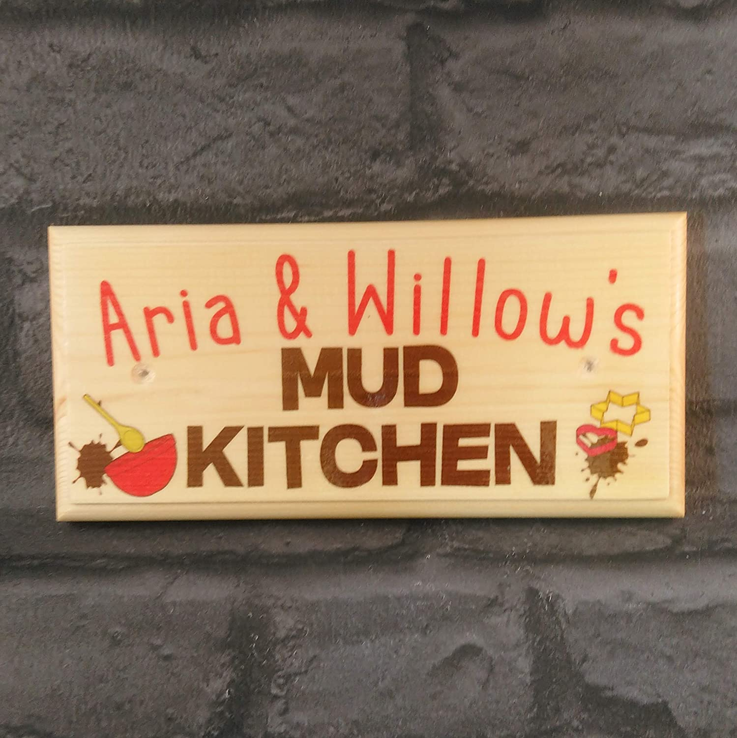 Personalised Mud Kitchen Plaque Personalised Mud Kitchen Sign Kids Garden Toys Sign