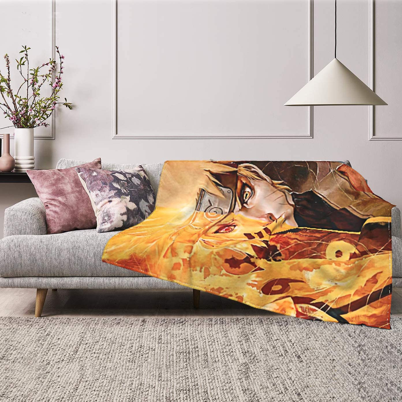 Anime Na-ruto Throw Blanket Flannel Fleece Blankets Ultra-Soft Plush Warm Cozy Lightweight Comfort Fluffy Comfy Decorative for Couch Bed Sofa Living Room Car Home Office