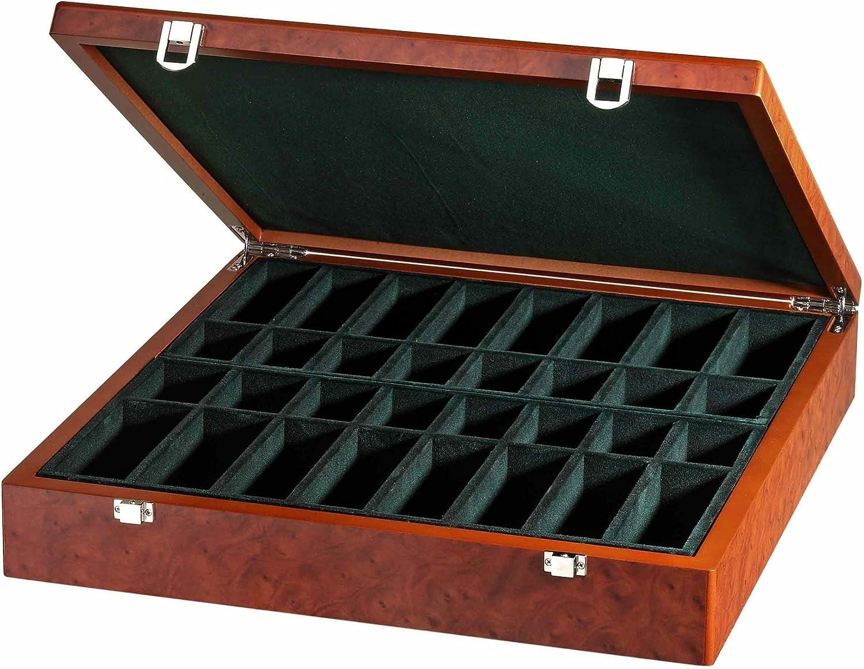 Wurzelholzdesign 2 Fächer Schachfigurenbox Exklusiv