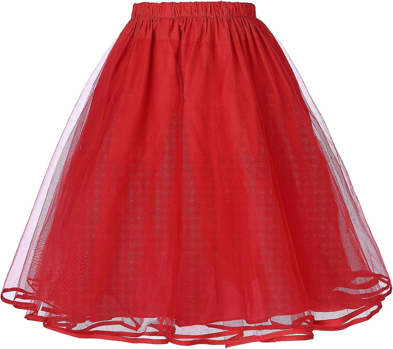 Belle Poque Falda Mujer 50s Retro Rockabilly Faldas Falda: Amazon ...