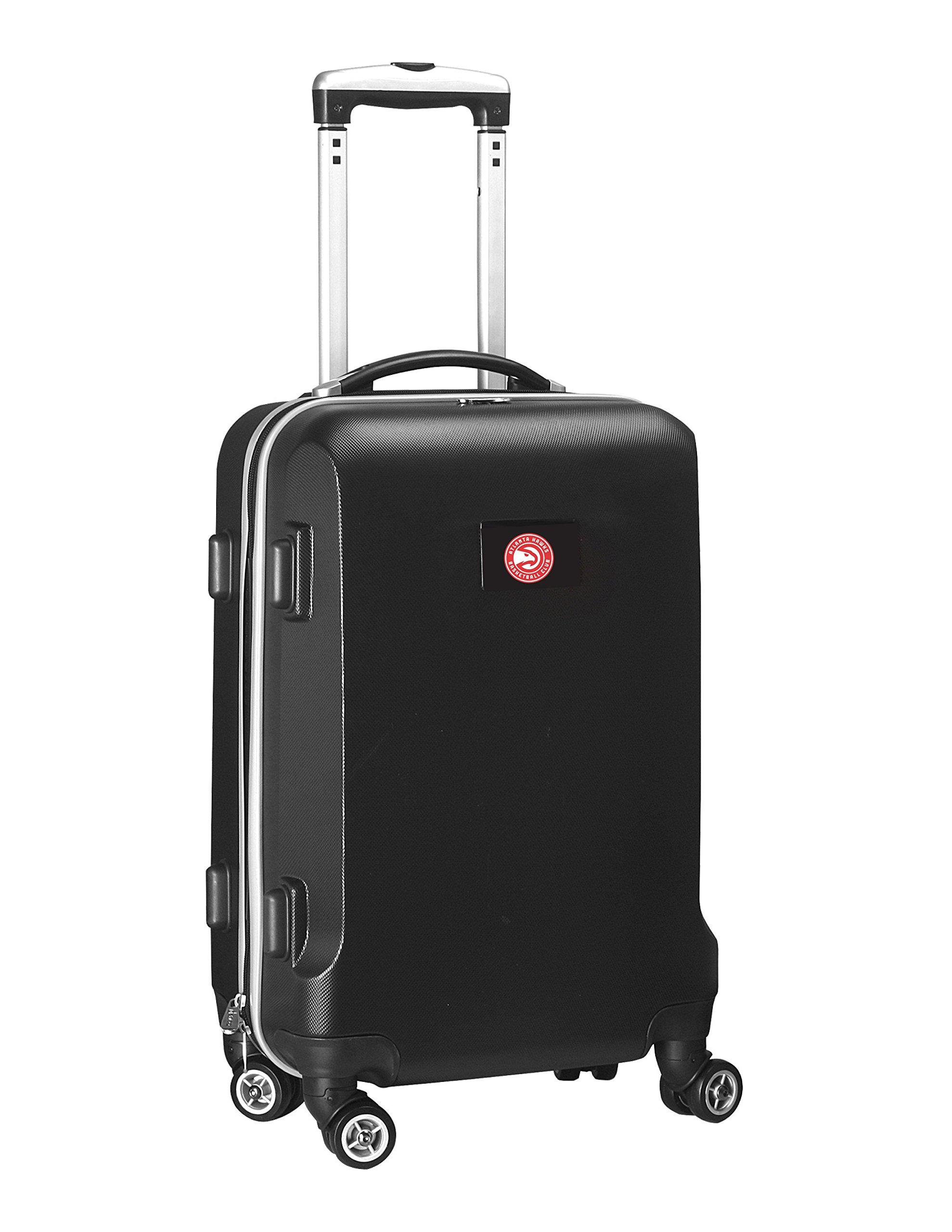 Denco NBA Atlanta Hawks Carry-On Hardcase Luggage Spinner, Black