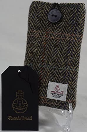 Kleidung & Accessoires Harris Tweed Iphone Case Grey/black Herringbone Pattern New Taschen & Schutzhüllen