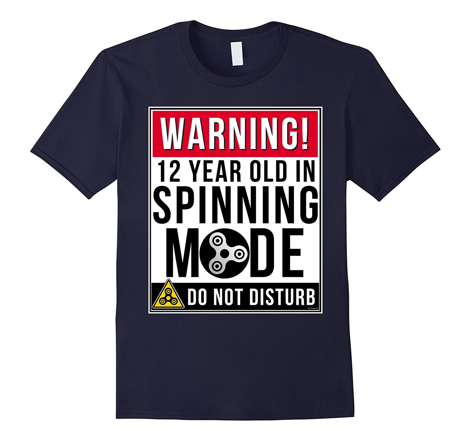 12 Year Old Fidget Spinner T Shirt Funny 12th Birthday Gift-PL