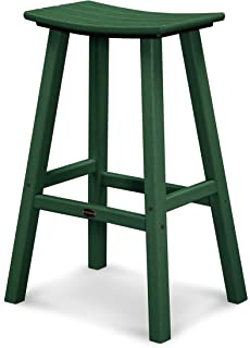 product image for POLYWOOD 2002-GR Traditional Bar Height Saddle Seat Barstool, Green