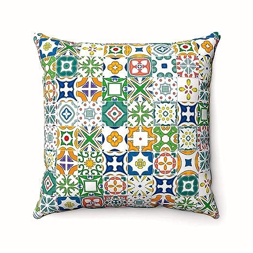 Azulejos Mosaico Español - Fundas de cojín marroquí Arabesco ...