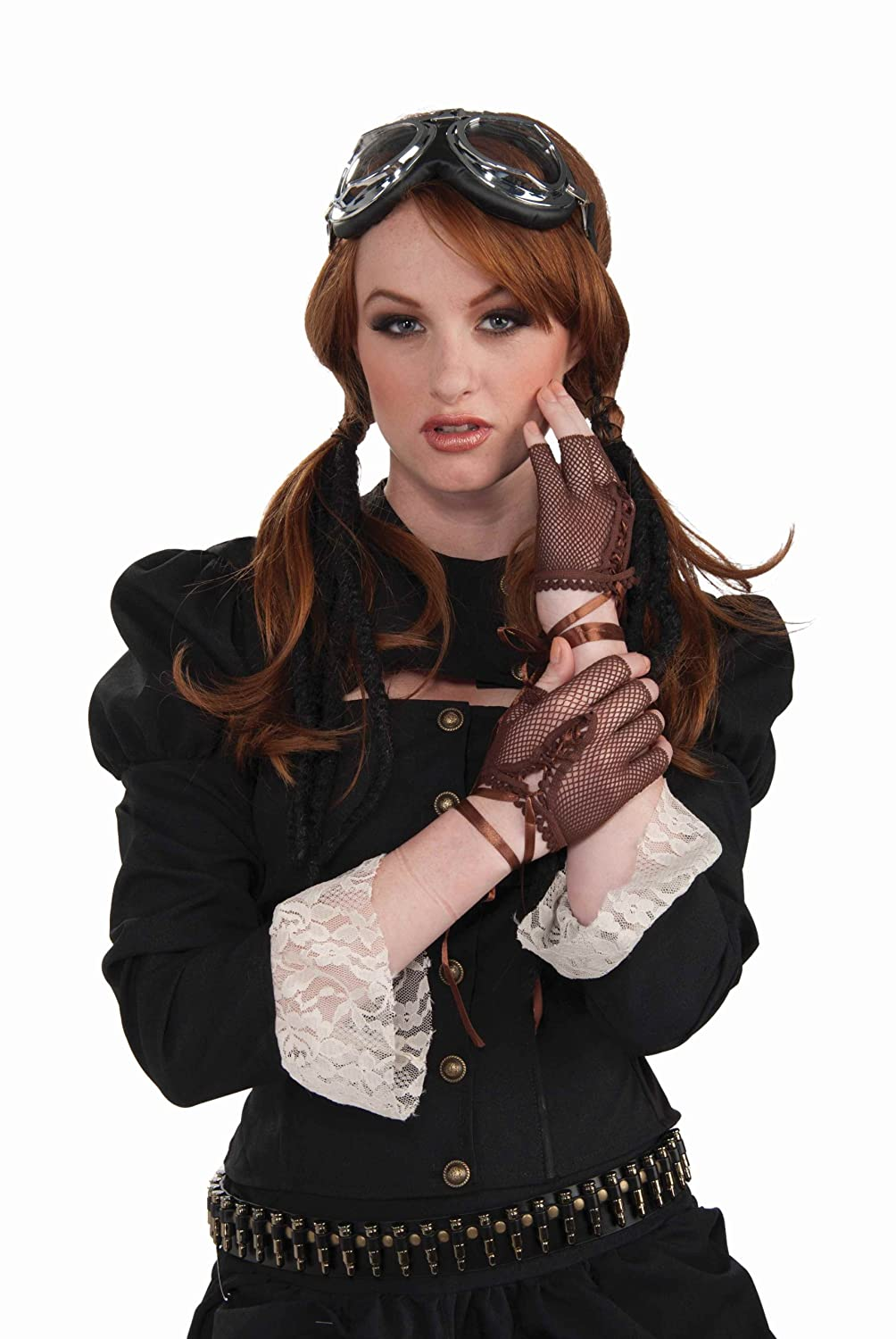 Vintage Style Gloves- Long, Wrist, Evening, Day, Leather, Lace  Steampunk Fingerless Gloves Costume Accessory $5.89 AT vintagedancer.com