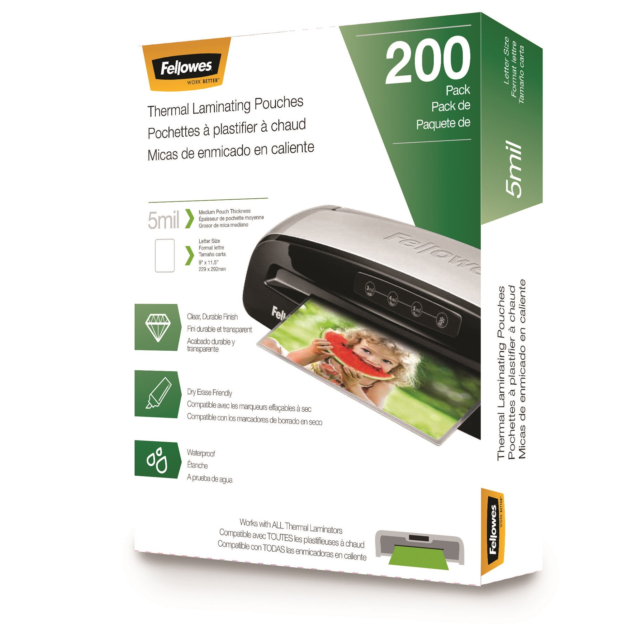 Fellowes Thermal Laminating Pouches by Fellowes