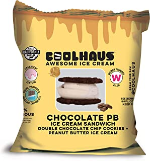 product image for Coolhaus Chocolate Peanut Butter Ice Cream Sandwich with Double Chocolate Chip Cookies, 5.8 oz (1 Ice Cream Sandwich)