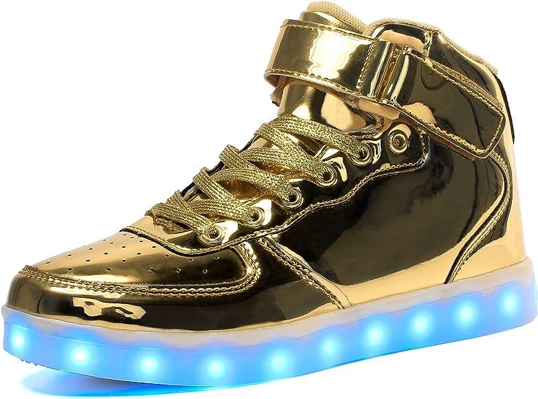 Voovix Kids LED Light Up High-top Shoes