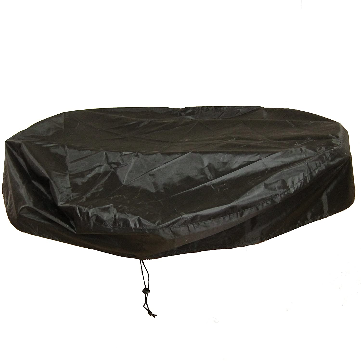 LU2000 Outdoor Round Fire Pit Cover, Firepit Protective Rain Cover, Waterproof UV Protect Rain Cover, Log Burner Cover (44
