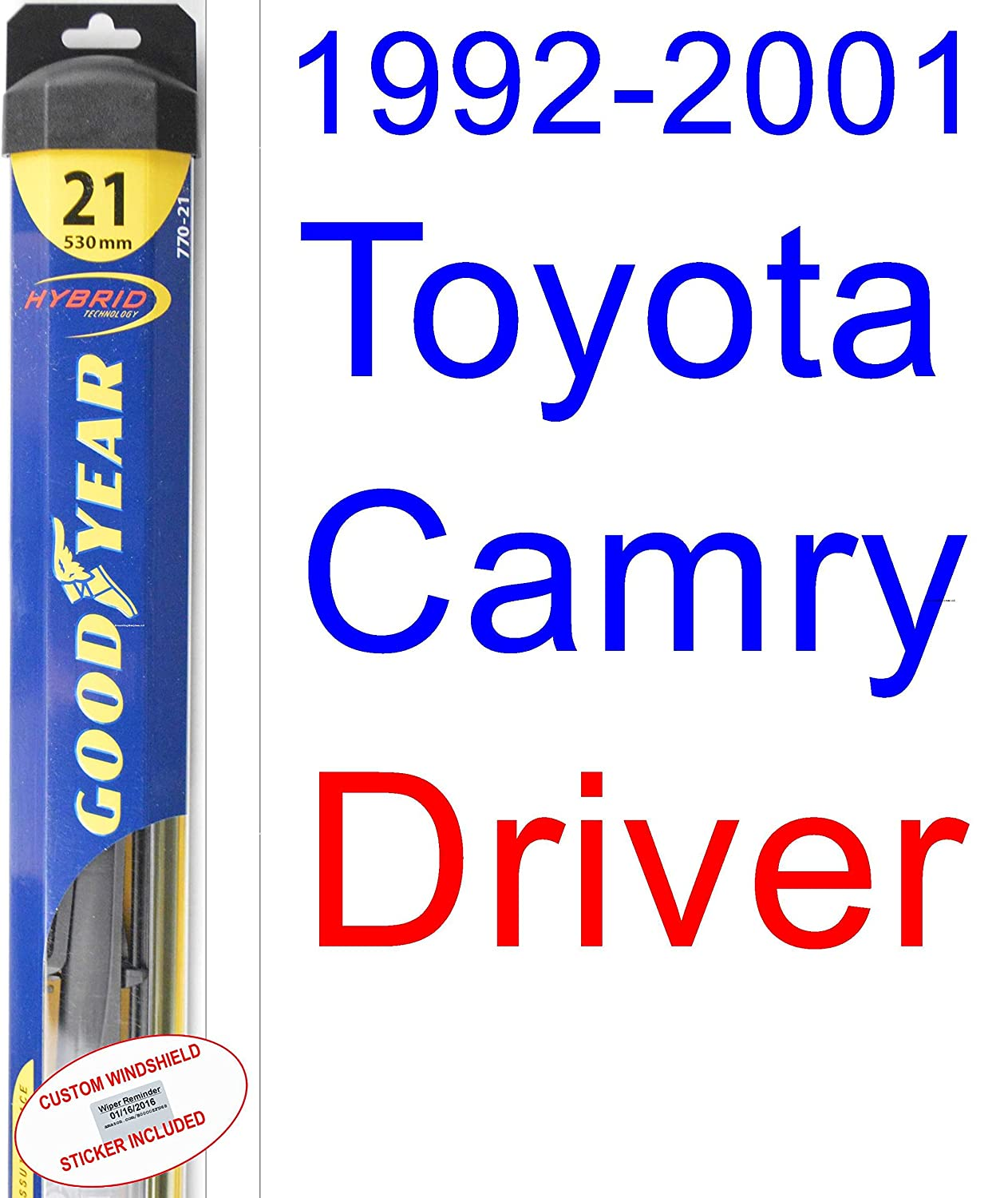 Amazon.com: 1992-2001 Toyota Camry Wiper Blade (Driver) (Goodyear Wiper Blades-Hybrid) (1993,1994,1995,1996,1997,1998,1999,2000): Automotive