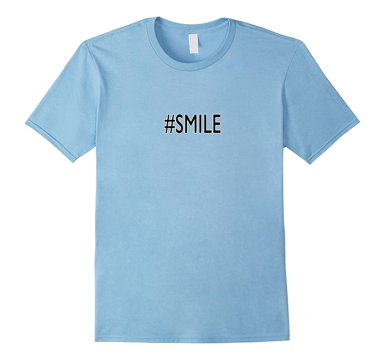 #Smile Shirt SMILE T SHIRT TOP HAPPY PLACE GOOD DAY-Art