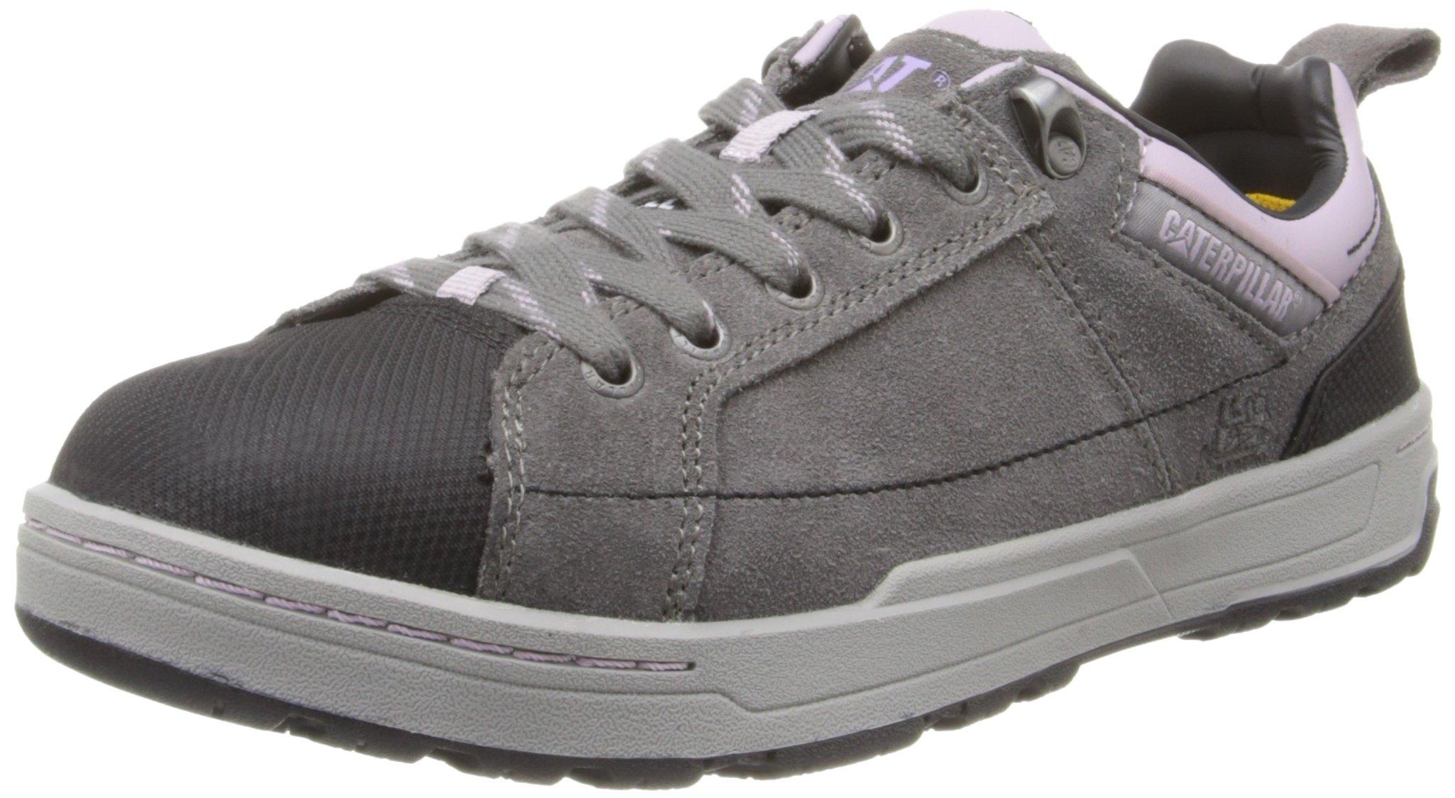 Caterpillar Women's Brode Steel Toe Work Shoe,Grey,9 W US