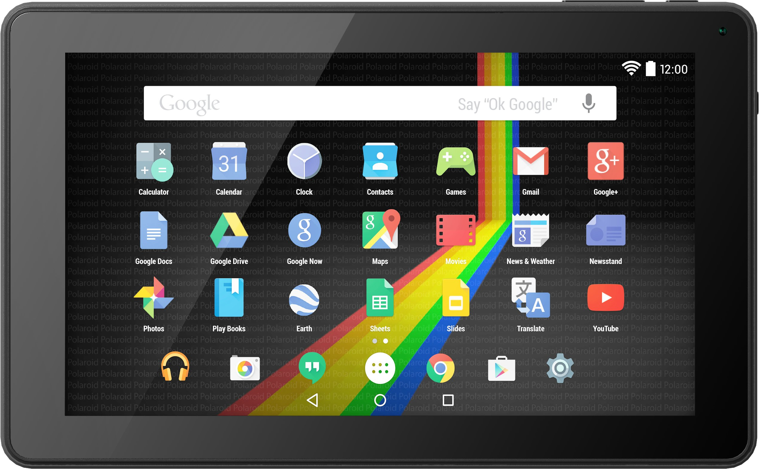 Polaroid P902BK Quad-Core 9'' Tablet With Android 5.1 Lollipop, 2 Cameras, Google Play