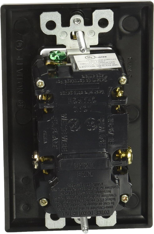White Leviton AFTR1-HGW 15-Amp 125-volt Tamper Resistant Hospital Grade AFCI Duplex Receptacle