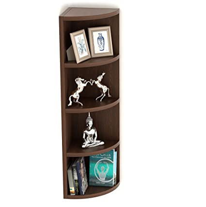 BLUEWUD Adora Engineered Wood Multi Tier Corner Wall Decor Shelf/Display Rack  5 Shelves  Wall Shelves