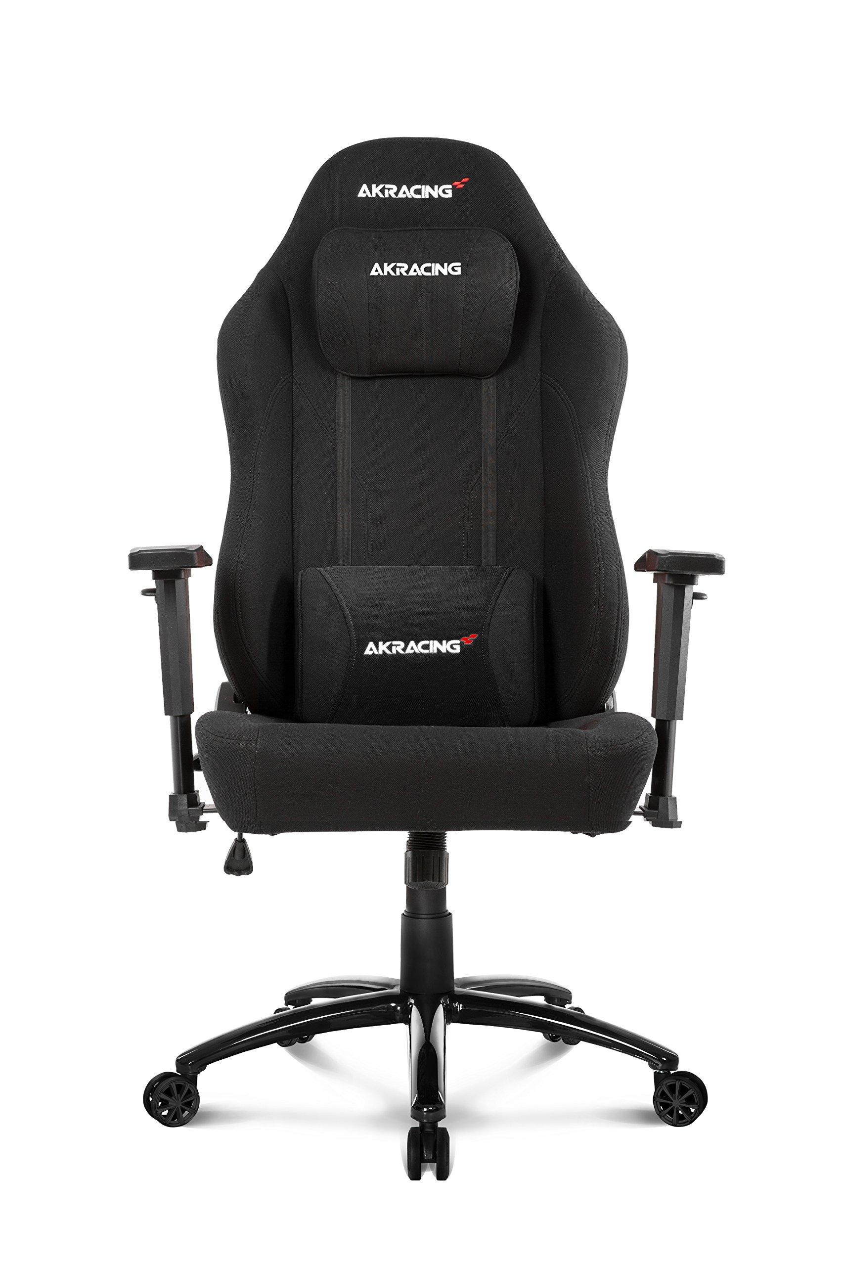 AKRacing Office Series Opal Ergonomic Fabric Computer Chair with High Backrest, Recliner, Swivel, Tilt, Rocker and Seat Height Adjustment Mechanisms with 5/10 warranty - Black by AKRacing