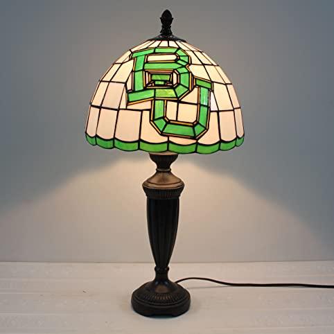 Royal  12 Inch NCAA Baylor Bears Stained Glass Table Lamp