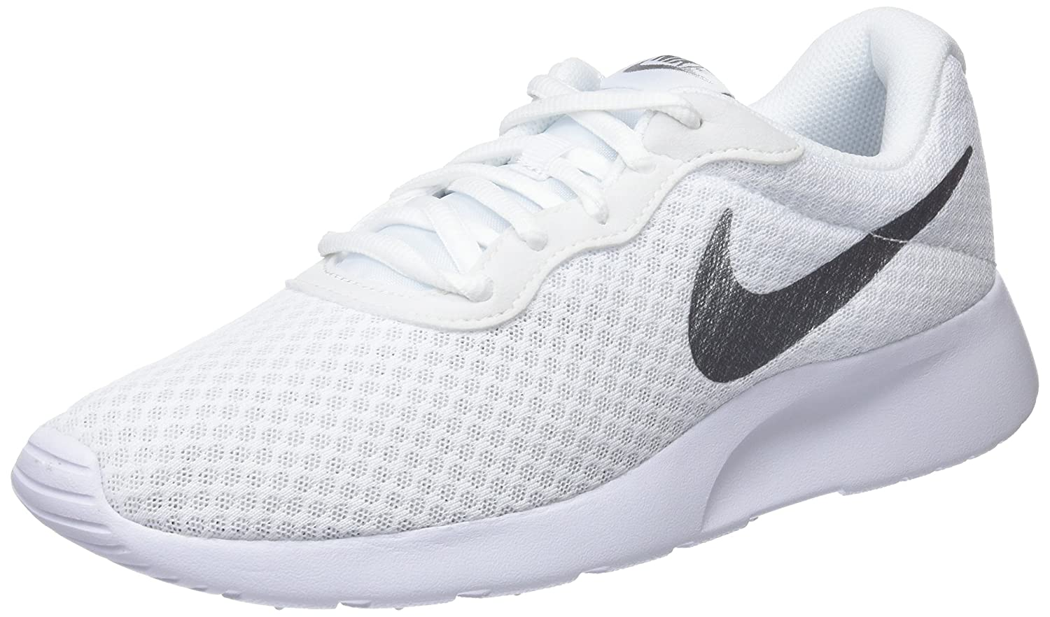 NIKE Women's Tanjun Running Shoes B06VWFGHH7 7.5 B(M) US|White/Metallic Silver