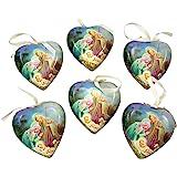 Set of 6 Sleep in Heavenly Peace Decoupage Christmas Ornament