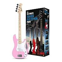 Rockburn PB Style Bass Guitar Includes 15W Bass Amplifier - Pink