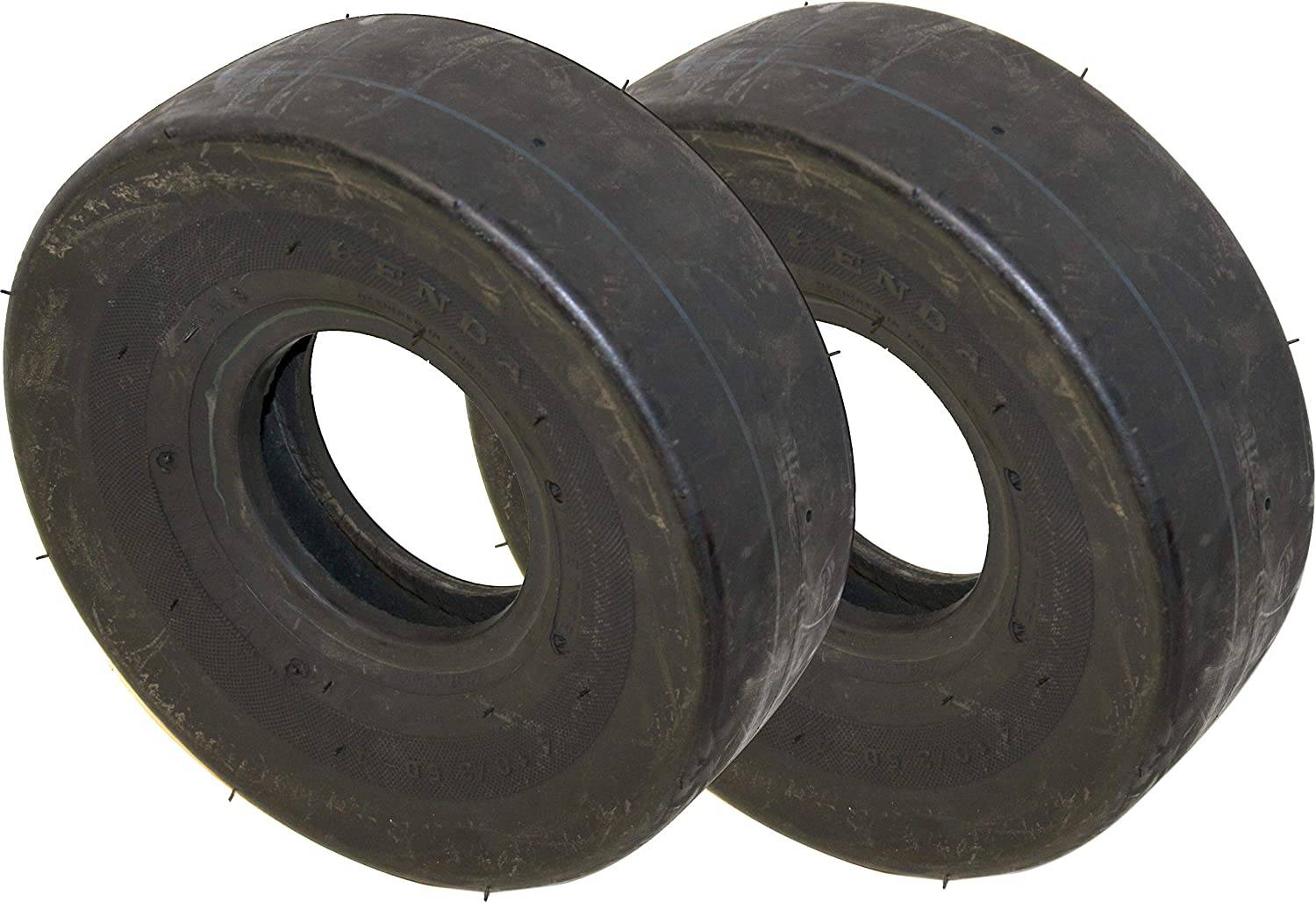 4.10/3.50-4 Kenda K404 Smooth/Slick Tread 4 Ply, Tube Type, 50 PSI, NHS Lawn Mower/Cart Tire (2)