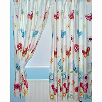Butterfly Lined Curtains 66