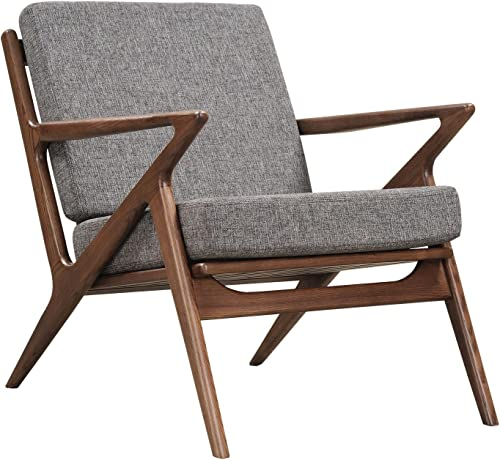 NyeKoncept Cloud Gray Zain Chair, Walnut