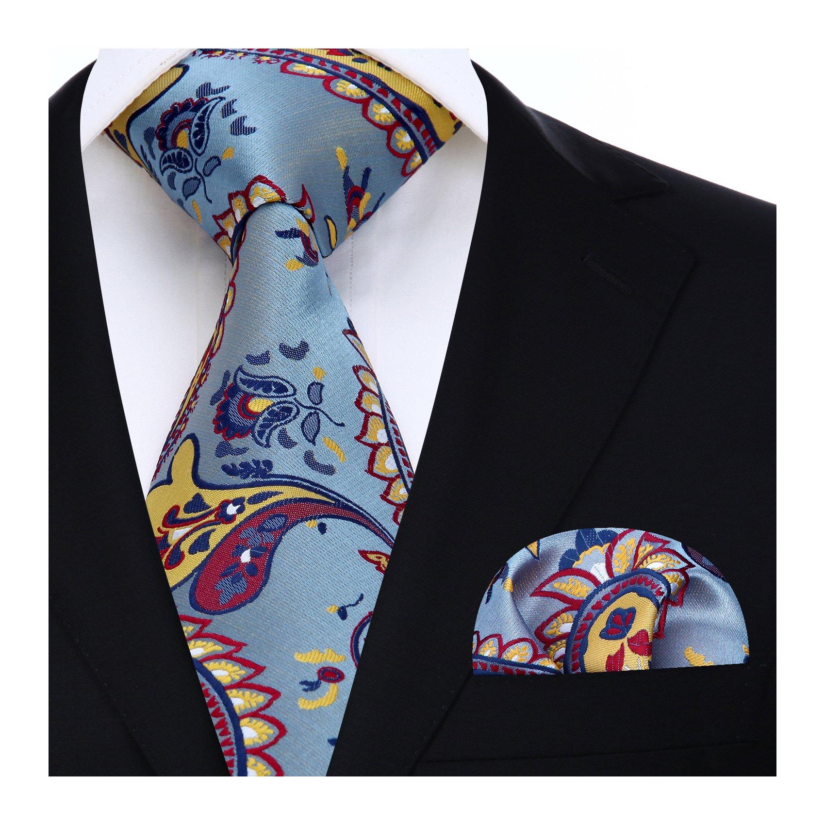 NEW Men/'s Paisley Pocket Square Hankie Only Handkerchief 6 Colors Wedding Prom