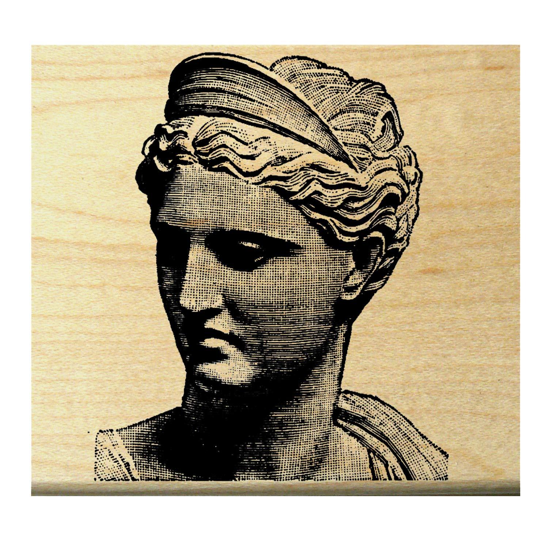 Venus de milo bust rubber stamp P19