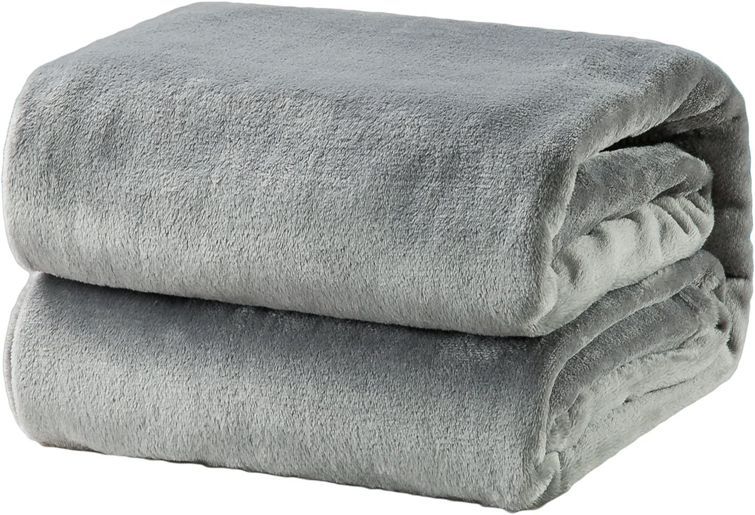 Bedsure Fleece Blanket Throw Size Grey Lightweight Super Soft Cozy Luxury Bed Blanket Microfiber