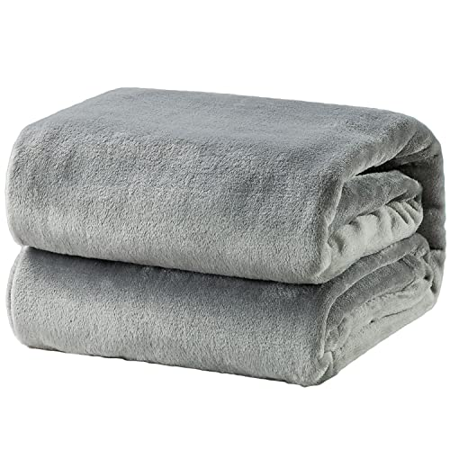 On a gray blanket